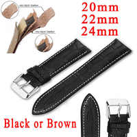 Watchbands Leather Watch band 20mm 22mm 24mm Black Brown Watch Strap for Men and Women Watch Belts for Boy and Girl Accessories