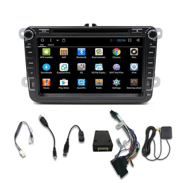 Android 7.1 8 Inch 2 DIN 1024*600 Car GPS DVD Player For Volkswagen VW Passat B6 B7 Passat CC Jetta Polo Golf Caddy Seat T6
