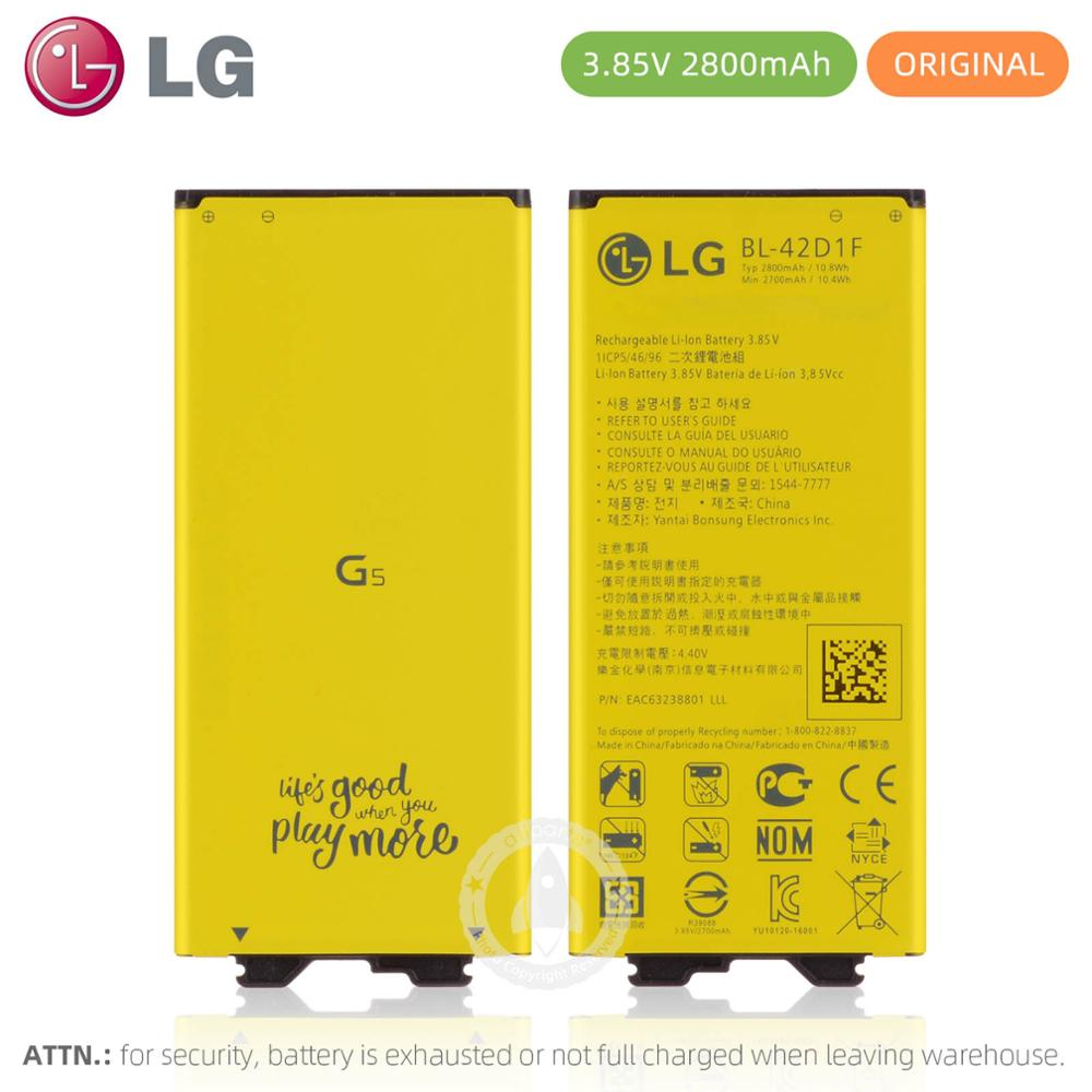 NEW Original Battery For <font><b>LG</b></font> <font><b>G5</b></font> Battery <font><b>bateria</b></font> BL-42D1F 2800mAh Replacement Battery VS987 US992 H820 H831 H840 H850 H868 H860 image