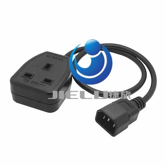 ФОТО Quality UPS Power Cable IEC C14 Male plug to UK 13A Female Socket BS1363 50cm,5 pcs