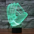 Hot NEW 7color changing 3D Bulbing Light gloves illusion LED lamp creative action figure toy Christmas gift Wolf Dog Spider