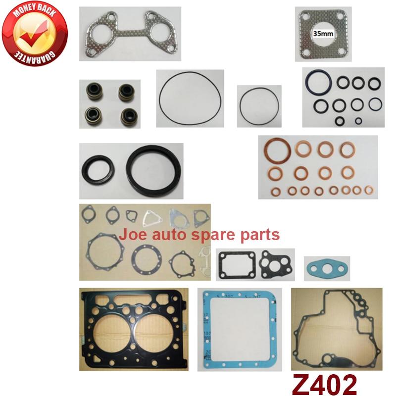 complete repair Overhaul engine full gasket set kit for Kubota engine: Z402