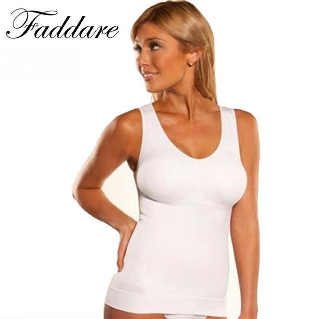 8ffde399b0134 Women Slim Up Lift Bra Shaper Tops Body Shaping Camisole Corset Waist  Slimming shapers Super Thin Seamless Tank tops