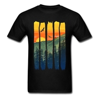 Nesting Eagles By The Summer Mountain Sunset Movie T Shirts Classic Teenage O Neck T Shirt