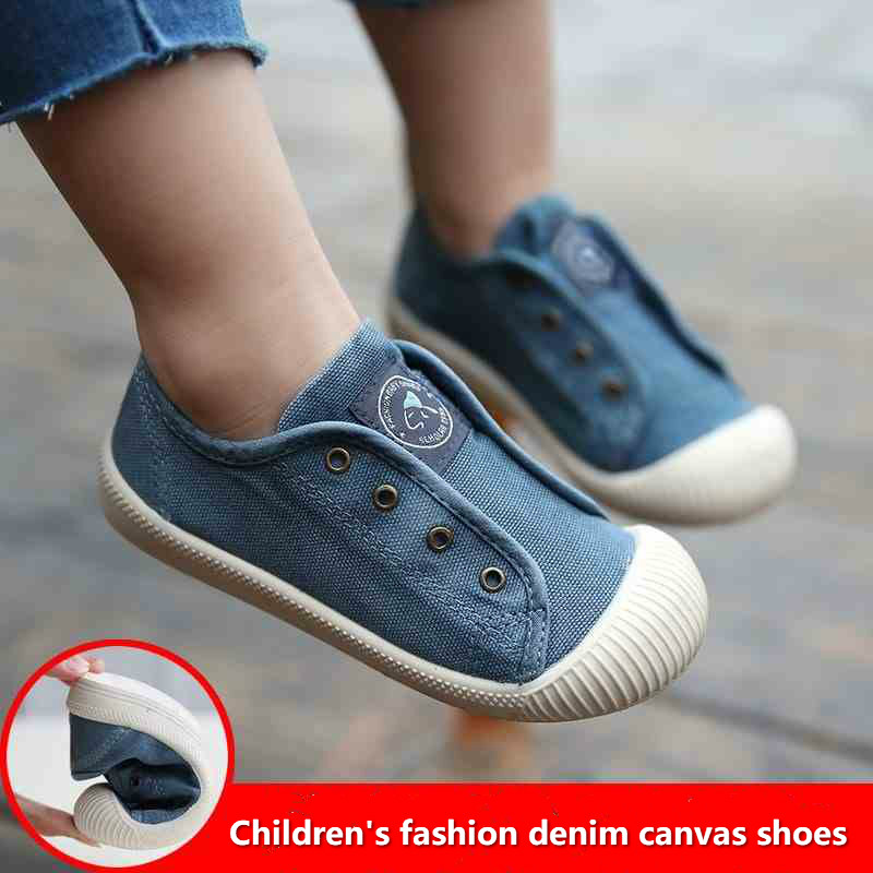 Kids Shoes Boys Summer Children's Denim Canvas Shoes Casual Soft Sneaker Baby Toddler Shoes Girls Loafers Moccasins High Quality