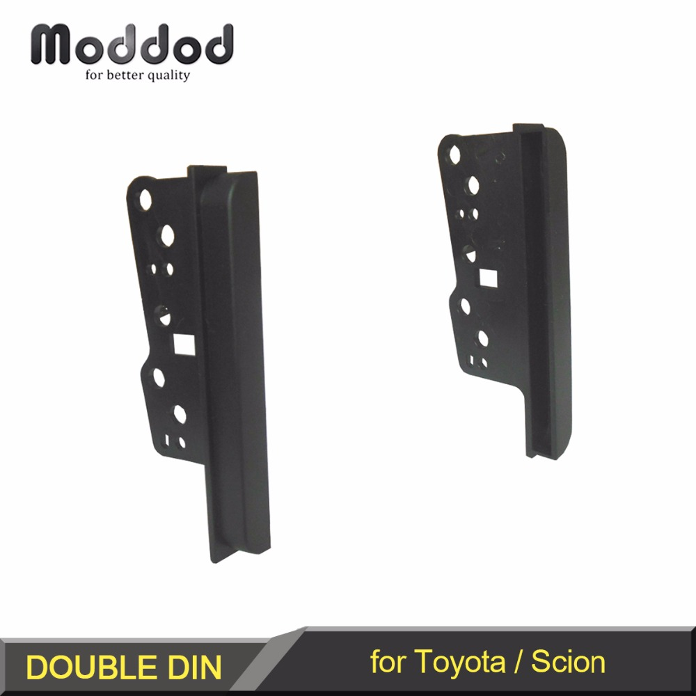 Staffe radio per Toyota Scion Double Din Stereo Pannello Fascia DVD Dash Mount Trim Side Kit