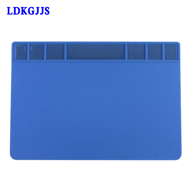 Large Size Heat-resistant Insulation Silicone Pad Magnetic Repair Desk Mats Maintenance Platform BGA Soldering Repair Station unique disk style silicone heat insulation cup pads blue black 2 pcs