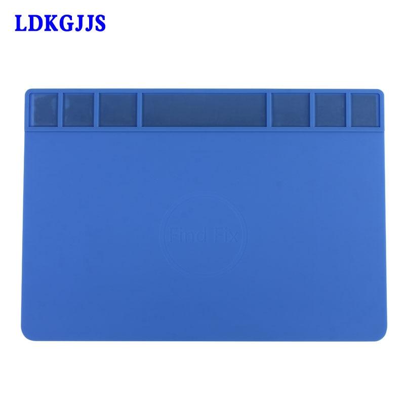 Large Size Heat-resistant Insulation Silicone Pad Magnetic Repair Desk Mats Maintenance Platform BGA Soldering Repair Station