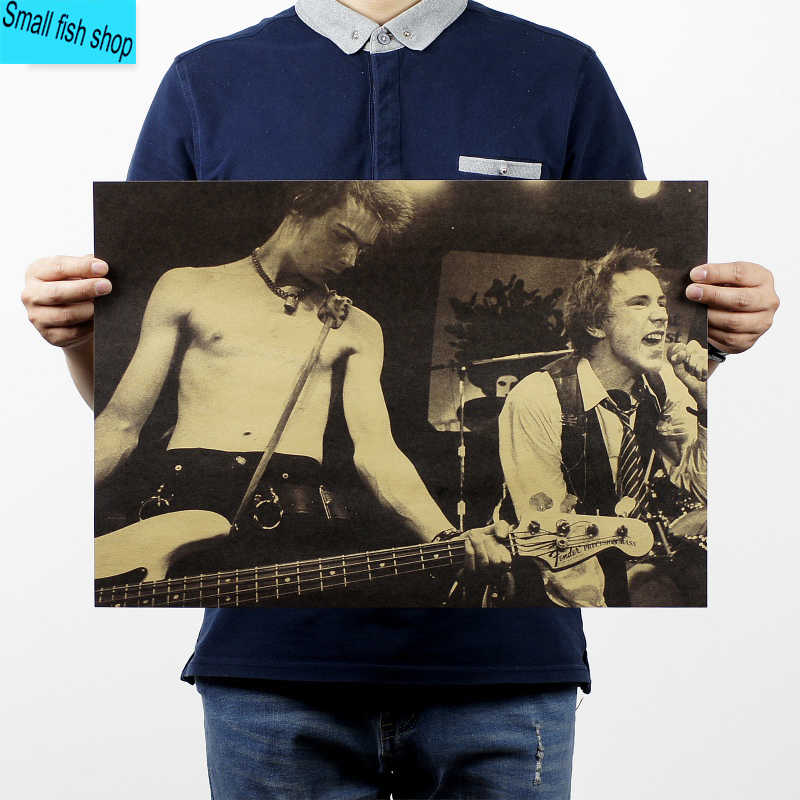 Sex Pistols British punk rock band Home Furnishing decoration Kraft music Poster Drawing core Wall stickers
