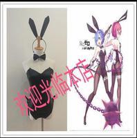 Yeniden Sıfır kara Hajimeru Isekai Seikatsu Rem Ram Üniforma Bunny Kız Cosplay Kostüm Custom Made Ücretsiz Kargo