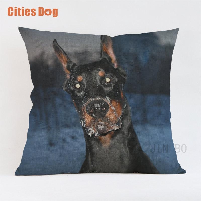 Doberman Decorative Throw Pillow
