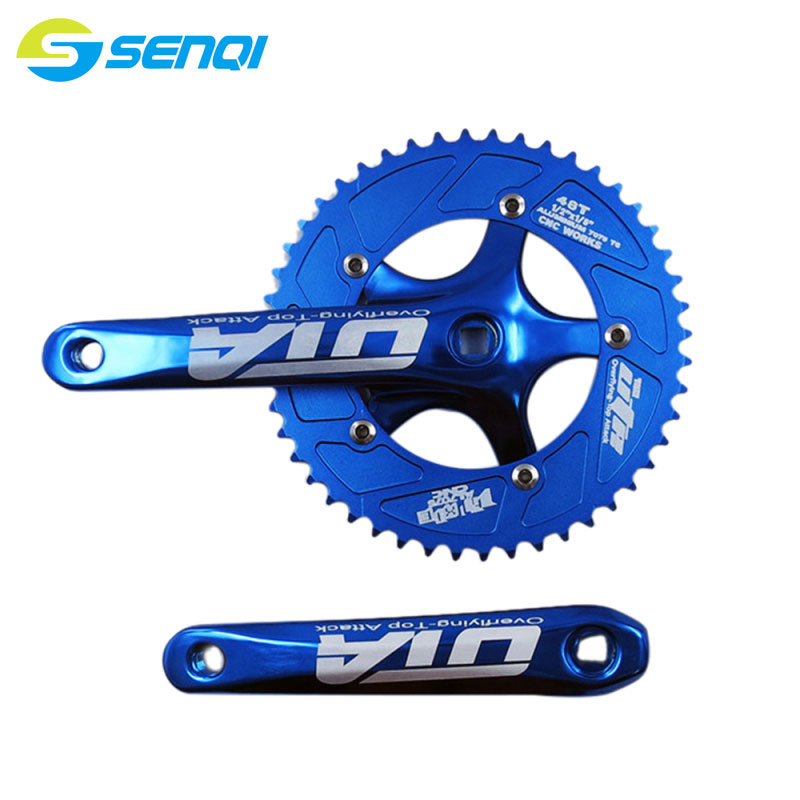 Road Bicycle Fixed Gear Bike 48T*170mm Single Speed Bicycle Crankset AL-7075 Bicycle Crank & Chainwheel CZY010 west biking bike chain wheel 39 53t bicycle crank 170 175mm fit speed 9 mtb road bike cycling bicycle crank