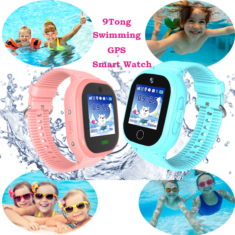 Swimming GPS Kids Smart Watch with Camera Waterproof Watch Phone for Children Call Location Tracker Safe Monitor pk Q90 Q50 #C0