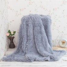 winter faux fur plush blanket reverse minky fleece 130x160cm thick soft warm sofa throw blanket christmas blanket