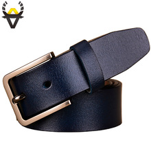 Fashion genuine leather belts for women Luxury designer pin buckle belt female Quality second layer cow skin strap Width 3.3 cm
