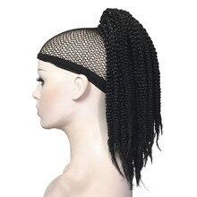 Strongbeauty афроамериканец косы плетеный Хвост Парики коготь клип на расширения черный