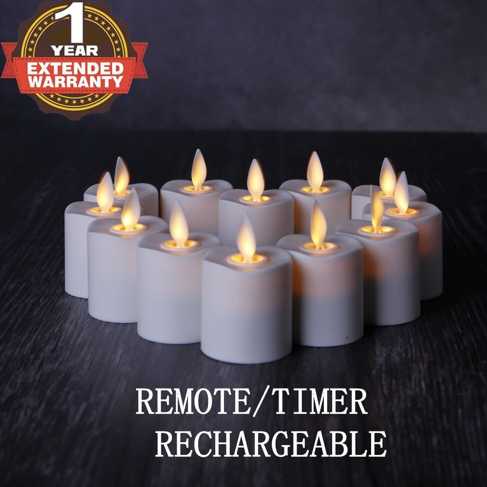Nonno Amp Zgf Rechargeable Flameless Votives Moving Flame Wick