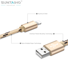 Suntaiho Nylon Micro USB Cable 8 Pin Mobile Phone Cable 0.5m/1.2m/2m/3m  Fast Charging USB Data Cables for iPhone 7 6 5/Samsung