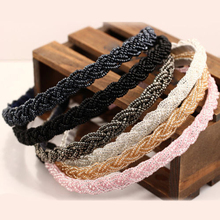Hot Women  Girls Chic Bead Rhinestone Crystal Head Chain Headband  HairBand Hairwear 5BSY 7GON