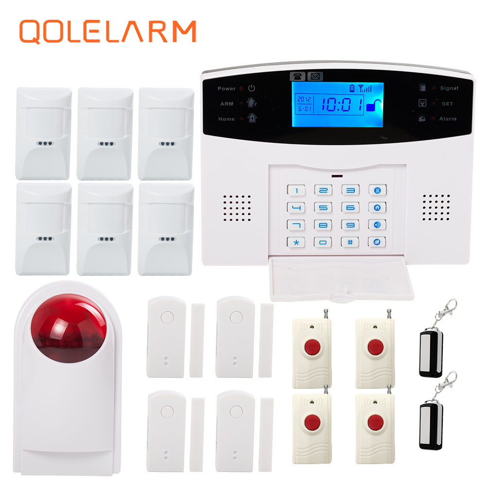 QOLELARM Polish French Spanish Russian Wireless alarm systems security home gsm anti-theft alarm emergency panic for the order