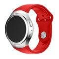 New arrival 2016 luxury silicone watch strap banda pulseira preta para samsung galaxy gear s2 sm-r720 smart watch banda cintas