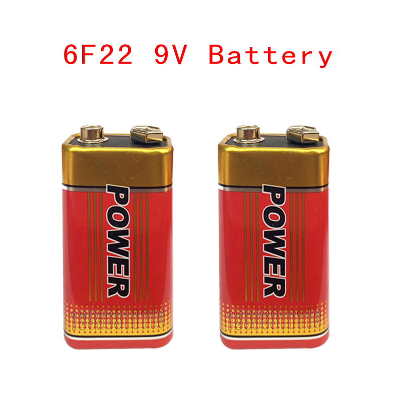 2pcs MJKAA Super Heavy Duty 9V 6F22 Battery Dry Zinc Carbon Battery for Digital Camera Remote Control Toy Smoke Alarm