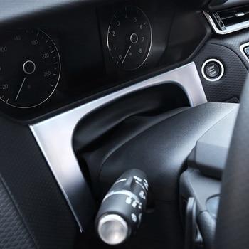 ABS מאט פנים רכב לוח מחוונים תחתון אביזרים לקצץ רצועת קונסולת לנד רובר ריינג 'רובר 2017 2018 סטיילינג המכונית וילוני