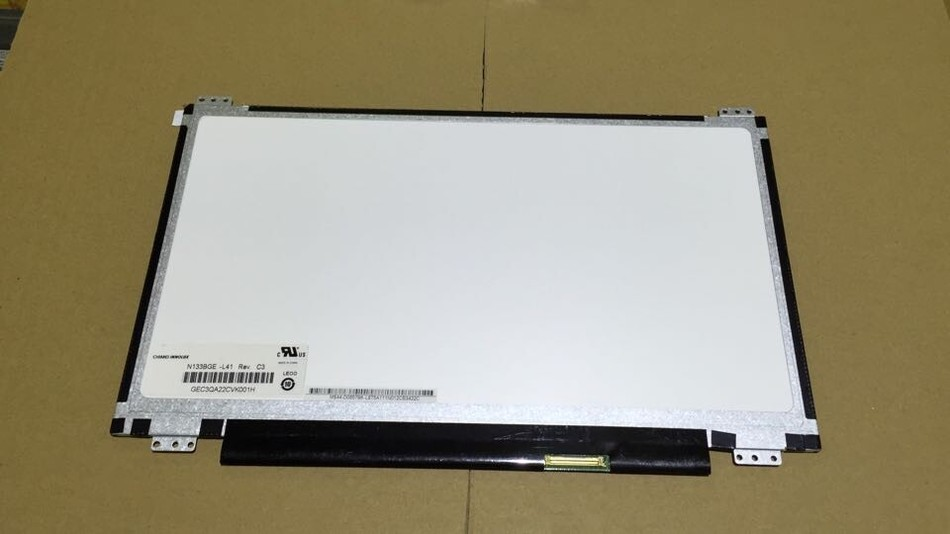 FOR ASUS S300C laptop LCD screen N133BGE-L41 Rev.C3 ,The 4 bracket 12 screw holes