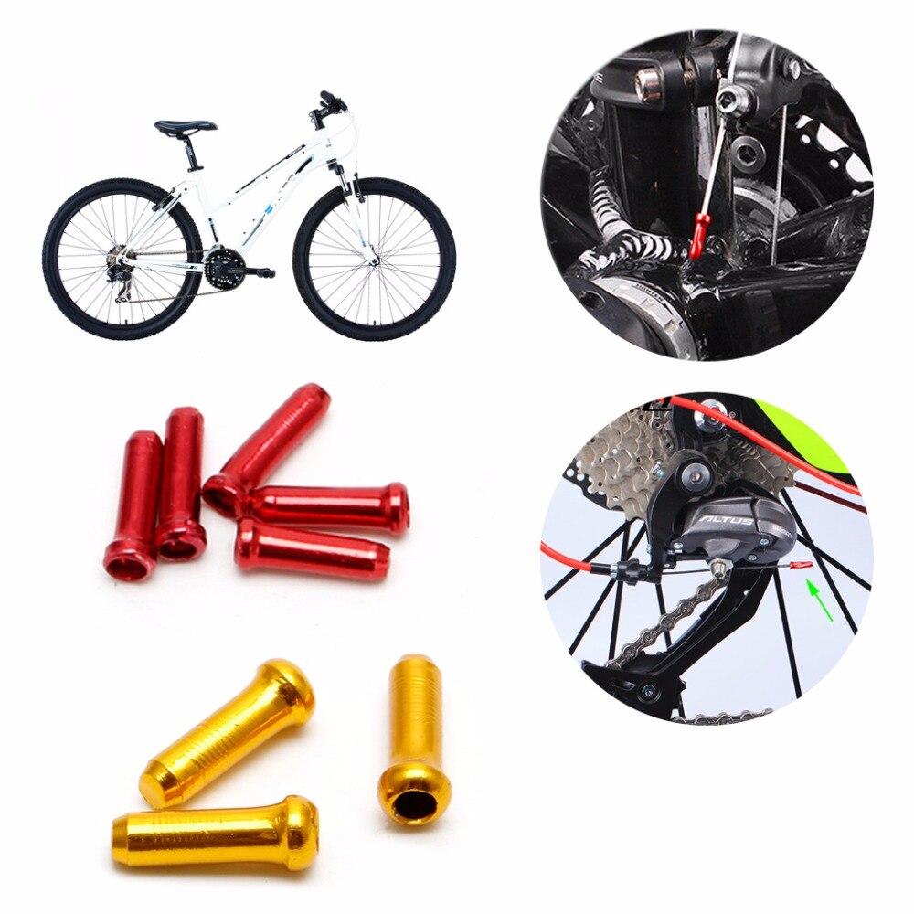 New MTB Road Bicycle Bike Derailleur Shift Cable End Caps 25 Pieces Silver