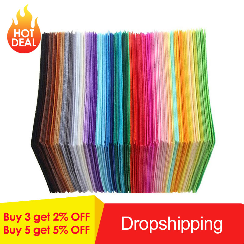 40pcs Multicolor DIY Craft Non-Woven Felt Fabric Polyester Cloth Felts Crafts Felt Fabric Clothes Sewing Supplies