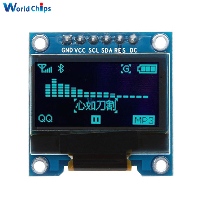 0.96 Inch SPI OLED Display Module 12864 6pins SPI Interface 0.96
