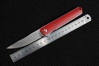 TRSKT Kwaiken Ball Bearing Pocket Knife Flipper Hunting Knives G10 Handle 9Cr18MoV Steel Blade EDC Tool