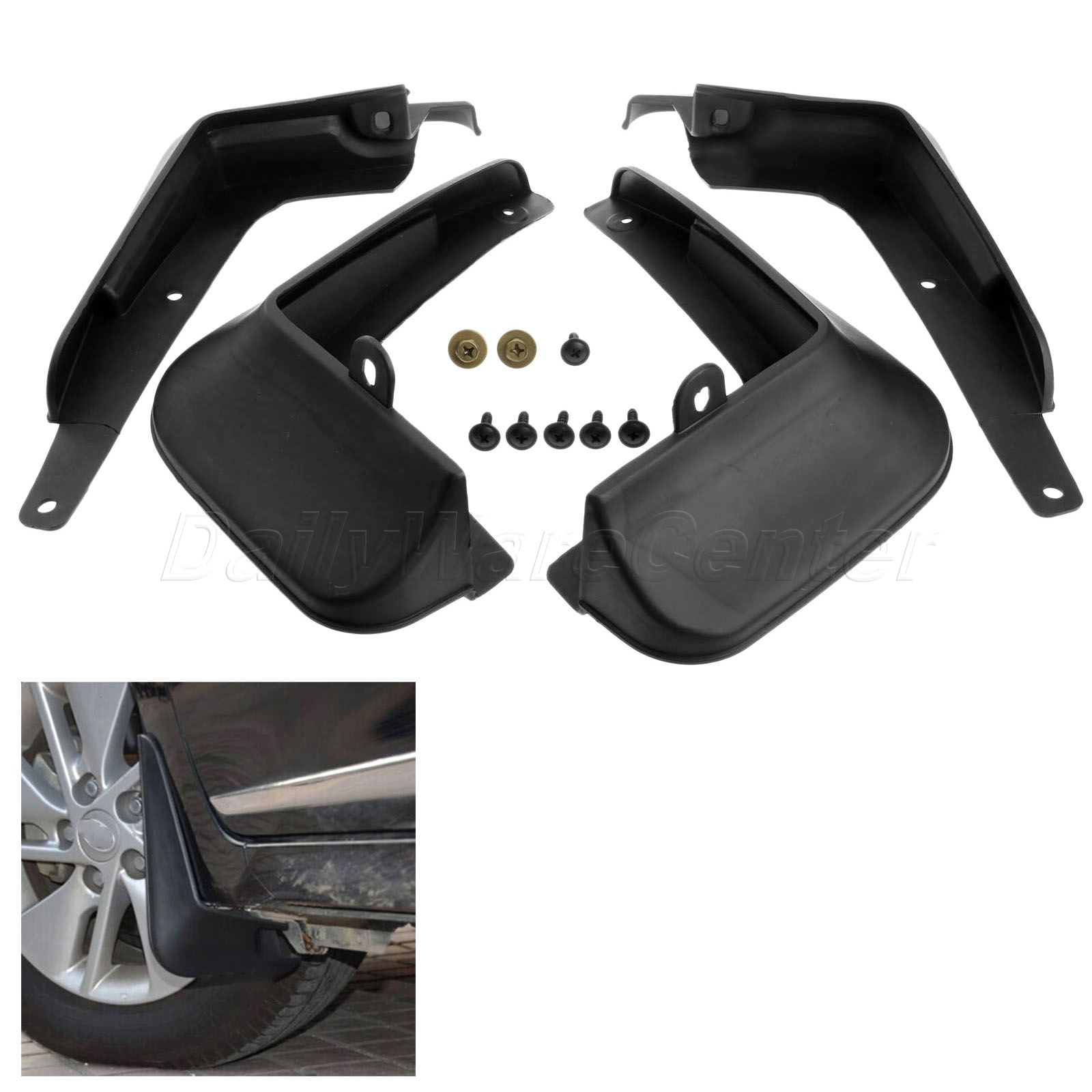 Car styling 4pcs mud flaps on car mud guard fender splash guards for toyota corolla