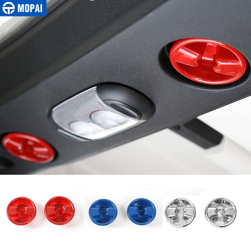 MOPAI ABS Car Roof Top Knob Switch Button Cover Trim for Jeep Wrangler 2007 Up Interior Decoration Accessories Car Styling mopai abs car exterior accessories door handle decoration cover trim stickers for jeep wrangler 2007 up car styling