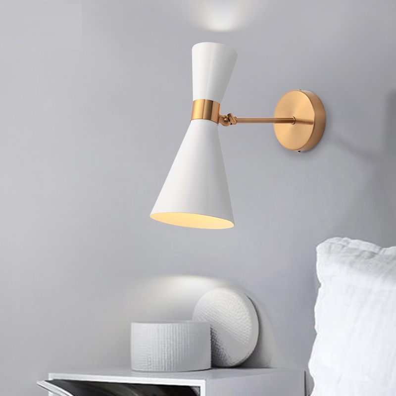 Nordic Bedroom Bedside Lamp Wall Lamp Simple Modern Aisle Corridor Hotel Golden Background Wall Lamp Creative LED Lamp nordic bedroom bedside lamp wall lamp simple modern aisle corridor hotel golden background wall lamp creative led lamp