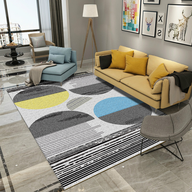Nordic Geometric Living Room Carpet Soft Bedroom Carpet Home Decor Rug Study Room Floor Mat Customize Sofa Coffee Table Area Rug in Carpet from Home Garden