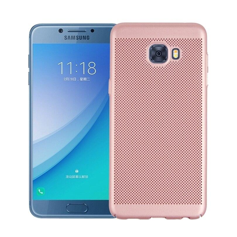 huge discount 1b7fa f66c8 Pour Samsung Galaxy C5 Pro C5Pro C5010 5.2 Dissipation de la chaleur  Couverture de Téléphone Cas Pleine Couverture Cas Téléphone Shell Cas de  Couverture