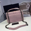 high quilted leather bag messenger bag lady famous luxury brand lambskin shoulder bags lock chain gray burgundy Beige free DHL