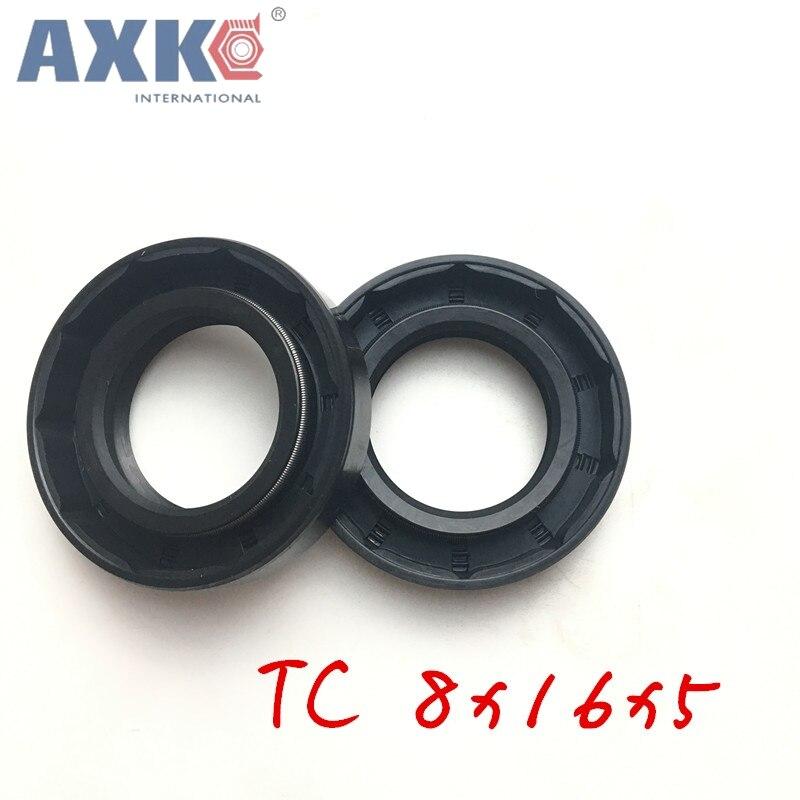 10pcs AXK 8x16x5 TC8x16x5 NBR Skeleton Oil Seal 8x16x5 Seals AXK high-quality Seals 8*16*5 Radial shaft seals стоимость