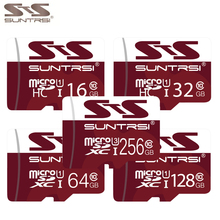 Suntrsi Tarjeta Micro SD 256 GB U3 4 K video Clase 10 de Alta Velocidad Tarjeta de memoria de 128 GB 64 GB 32 GB U1 Clase 10 Tarjetas SD para Teléfonos cámaras