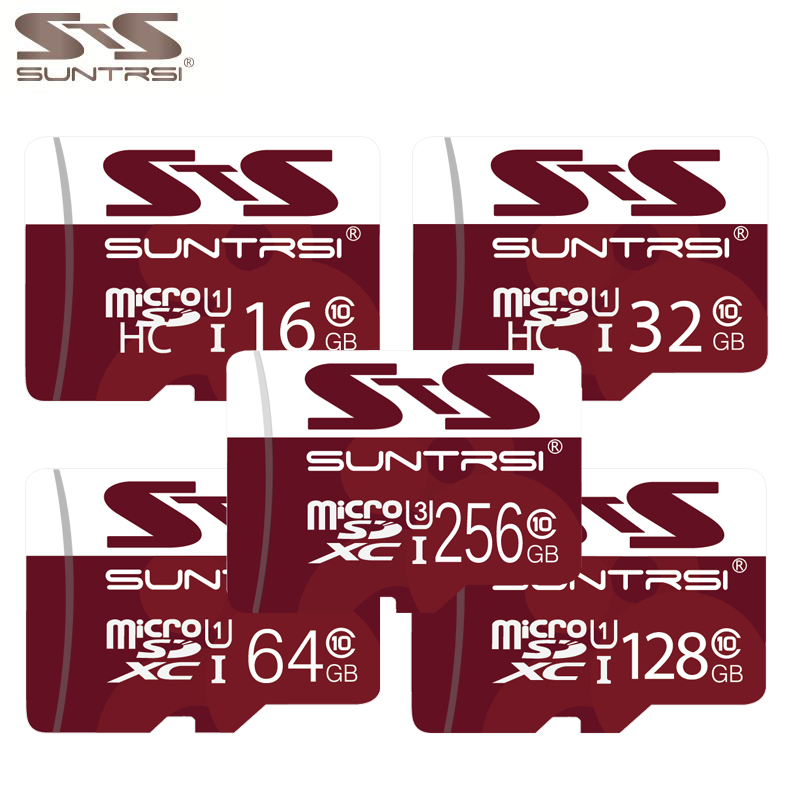 Suntrsi Micro Sd-karte 256 GB U3 4 Karat video Class 10 High Speed Speicherkarte 128 GB 64 GB 32 GB U1 Klasse 10 Sd-karte für Handys kameras