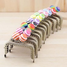 12pieces/lot ,7.5cm multi colors Candy Metal Purse Frame Handle for Bag Sewing Craft,Coin Purse Frames
