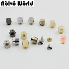 300 sztuk 100 miedzi różowe złoto odlewania 11*9mm okrągły nit z łbem śruby do torby sprzętu wysokiej jakości nity akcesoria 50 sztuk tanie tanio nolvo world zh11111 Rivet Copper