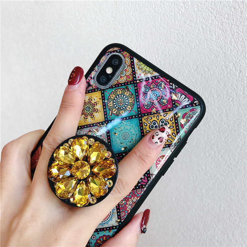 ... Green emerald marble pattern diamond extension bracket shiny silicone cover  case for iphone MAX XS XR ... cd34bf44a354