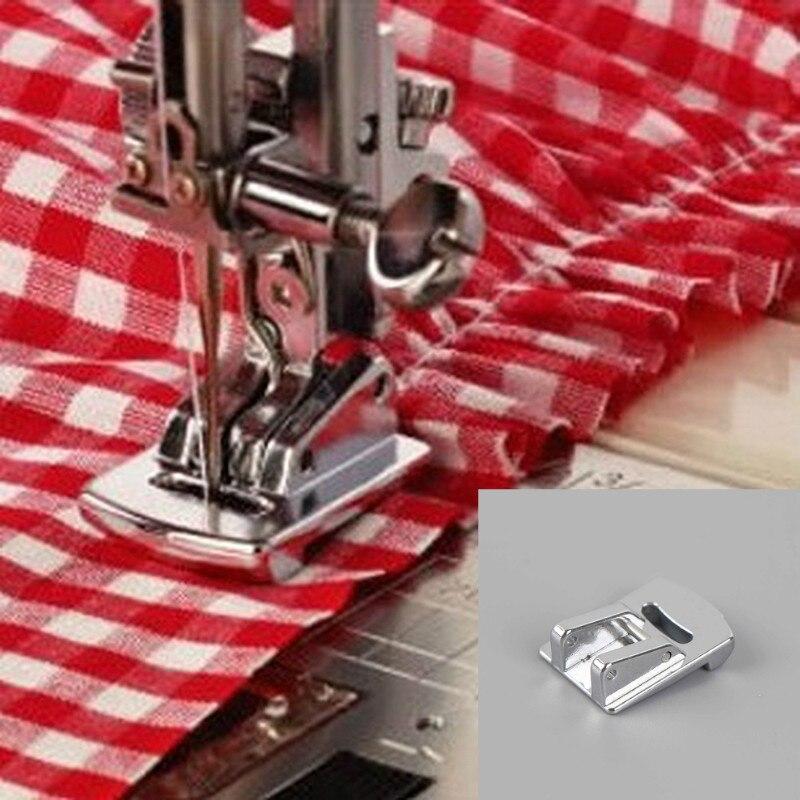 1 шт. скрученный подол прижимная лапка для шитья для швейной машины Singer Janome Sliver Tone