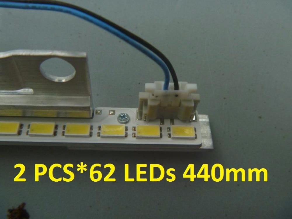 2 unids * 62 LEDs 440mm de tira LED BN64-01639A 2011SVS40 FHD 5K6K derecha izquierda para UA40D5000PR LTJ400HM03-H