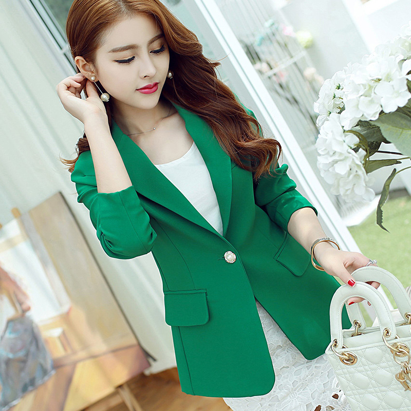 2018 spring and summer new fashion ladies waist slimming long sleeve lady casual suit jacket suit