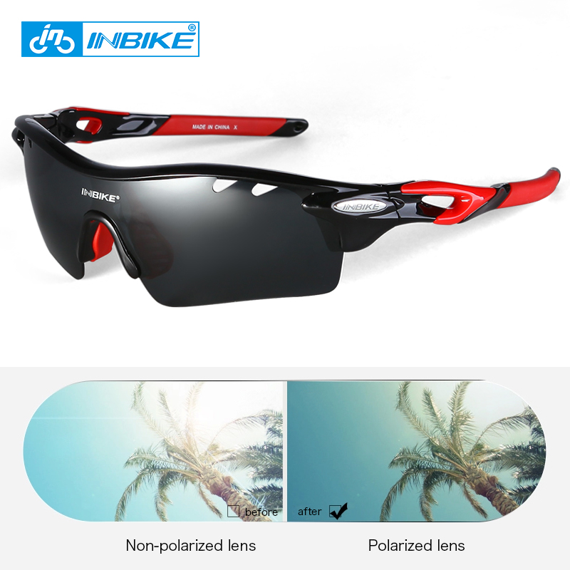 INBIKE 2018 Pro Cycling Glasses Men Women Ultralight Polarized Bicycle Glasses TR90 Frame Bike Sunglasses Sport Eyewear 5 Lens