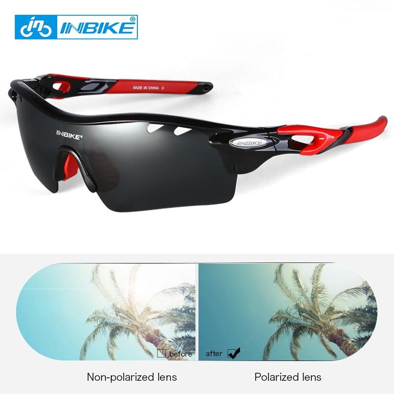 INBIKE Óculos de Ciclismo Das Mulheres Dos Homens Ultraleve Óculos de Bicicleta Polarizada 5 Lente TR90 Quadro MTB Road Bike Óculos De Sol Do Esporte Eyewear