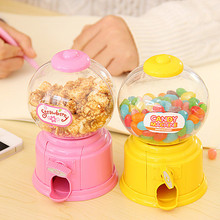 Bonito criativo doce mini máquina de doces moeda banco crianças brinquedos namorada doce presente açúcar dispensador garrafa 8.5x14cm